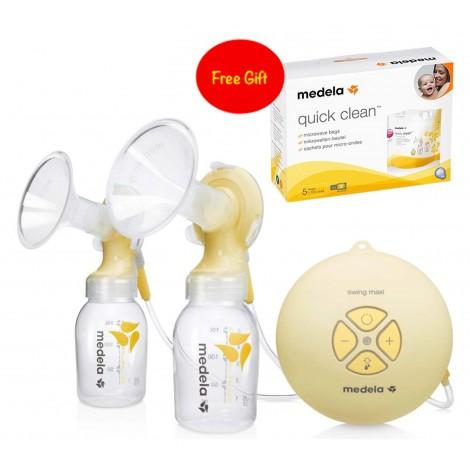 Medela Swing Maxi Breast Pump + Quick Clean Sterilization Bags
