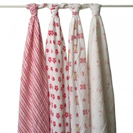 Aden + Anais Princess Posie - Classic Swaddles (4 Pack)
