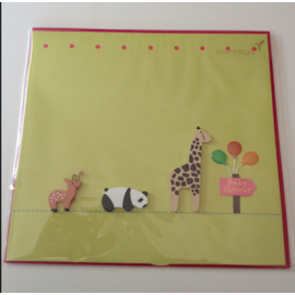 Baby Shower Card - Balloons & Animal Friends!