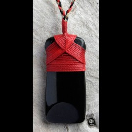 Black Jade Toki with Red Bindings