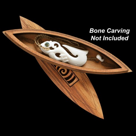 Koru Inlay Wakahuia Box - layered & with modern twist!