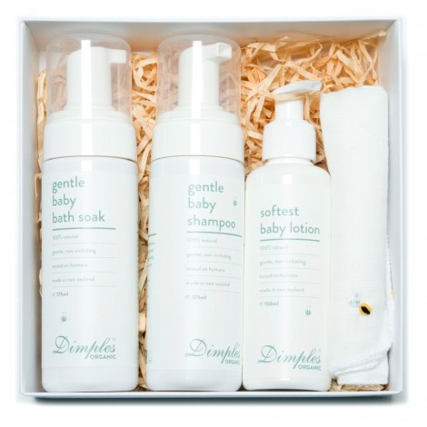 Dimples Skincare & Muslin Flannel Gift Set