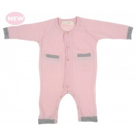 Cocooi Lightweight Merino Onesie - Pink -  NB -3mths