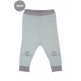 Cocooi Lightweight Merino Leggings - Green Print NB - 3months