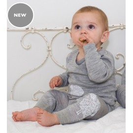 Cocooi Lightweight Merino Leggings - Grey Sheep Print NB - 3months