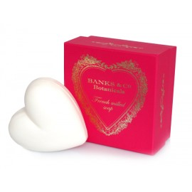 Pacifica Pink Boxed White Heart Soap