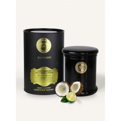 Surmanti Lime & Coconut Long Burning ECOSOYA Candle
