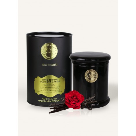Surmanti Rose Vanilla Long Burning ECOSOYA Candle