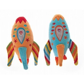 Lily & George  Groovy Rocket Rattle - 2 Colours